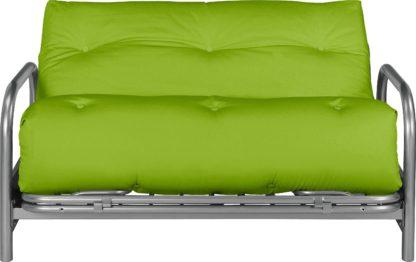 An Image of Argos Home Mexico 2 Seater Futon Sofa Bed - Green
