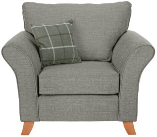 An Image of Argos Home Kayla Fabric Armchair - Light Grey