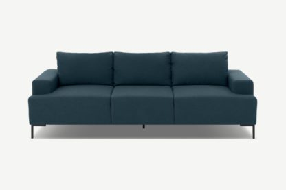 An Image of Frederik 3 Seater Sofa, Aegean Blue