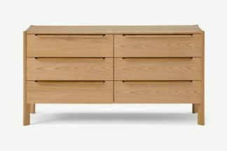 An Image of Ardelle Wide Chest of Drawers, Light Wood