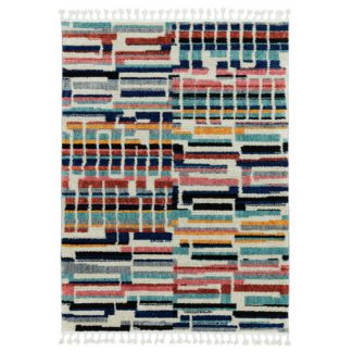 An Image of Asiatic Cyrus Shaggy Geo Rectangle Rug - 120x170cm