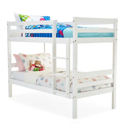 An Image of Panama White Bunk Bed White
