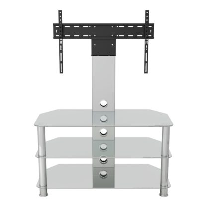 An Image of AVF Up To 55 Inch Glass TV Stand with Mount - Clear