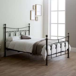 An Image of Gamma Nickel Bed Frame Brown