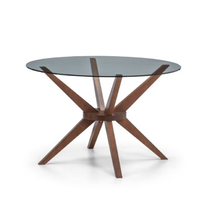 An Image of Chelsea Round Glass Table Brown