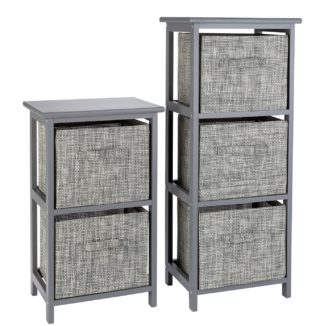 An Image of Argos Home 2 and 3 Drawer Bathroom Units - Grey