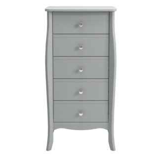 An Image of Baroque Grey 5 Drawer Chest Grey