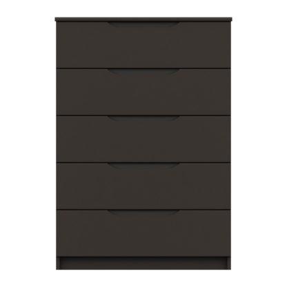 An Image of Legato Graphite 5 Drawer Chest Black