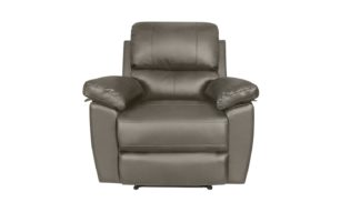 An Image of Argos Home Toby Faux Leather Rise & Recline Chair - Grey