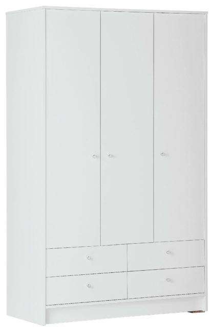 An Image of Habitat Malibu 3 Door 4 Drawer Wardrobe - Grey