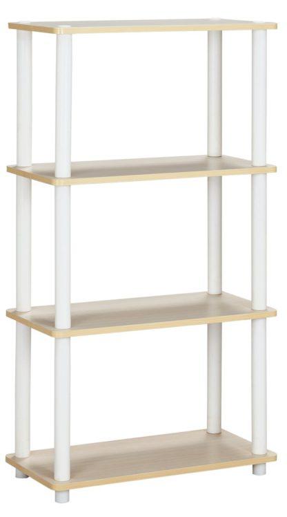 An Image of Argos Home New Verona 3 Shelf Bookcase - Light Wood Effect