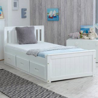 An Image of Mission White Storage Bed White