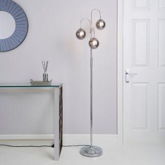 An Image of Gigi Chrome Floor Lamp Chrome