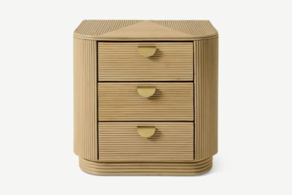 An Image of Azrou Bedside Table, Natural Cane