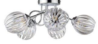 An Image of Argos Home Alana 5 Light Ceiling Light - Chrome