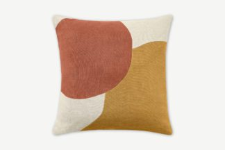 An Image of Favreau Linen Blend Cushion, 50 x 50cm, Tan