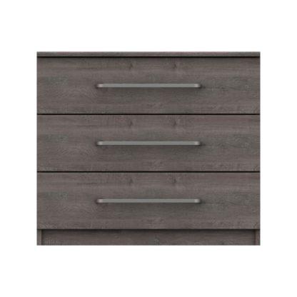 An Image of Parker Grey 3 Drawer Chest Dark Grey