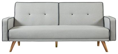 An Image of Habitat Frankie 2 Seater Clic Clac Sofa Bed - Grey