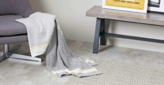 An Image of Ryker Cotton Woven Throw 130 x 170cm, Grey Multi