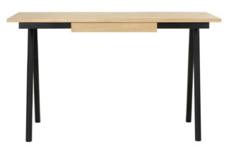 An Image of Habitat Scout Black Desk with 1 Drawer