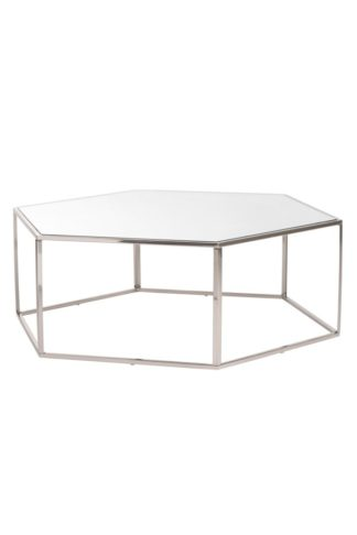 An Image of Alveare Brushed Steel Coffee Table