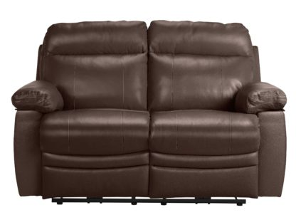 An Image of Argos Home Paolo 2 Seater Power Recliner Sofa - Black