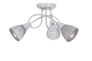 An Image of Argos Home Ribbed Curico 3 Light Ceiling Light