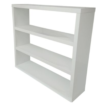 An Image of Puro High Gloss Wooden White Bookcase White