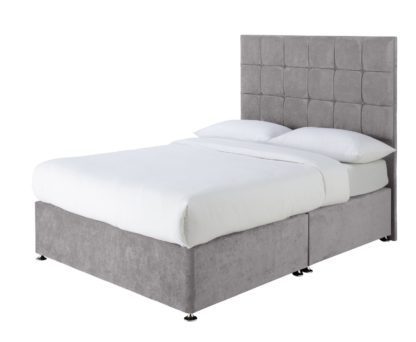 An Image of Forty Winks 1500 Pocket Double Divan - Seal Grey