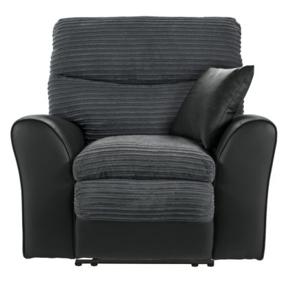 An Image of Argos Home Harry Recliner Fabric Chair - Charcoal