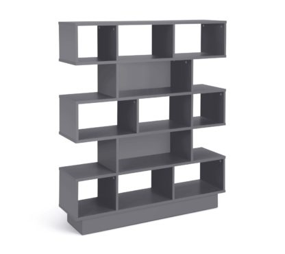 An Image of Habitat Cubes 5 Tier Wide Bookcase - Grey