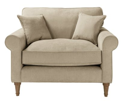 An Image of Habitat William Fabric Cuddle Chair - Natural