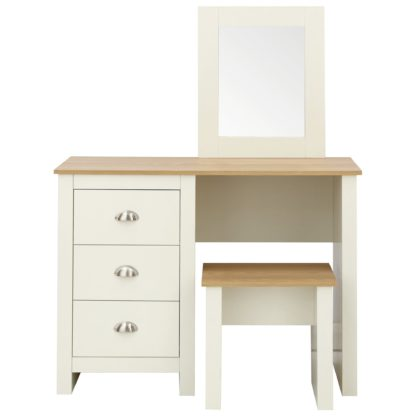 An Image of Lancaster Dressing Table Set Cream and Brown