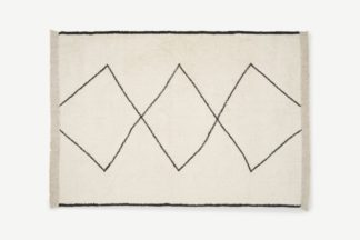 An Image of Fifie Berber-Style Wool Rug, Large 160 x 230cm, Off White