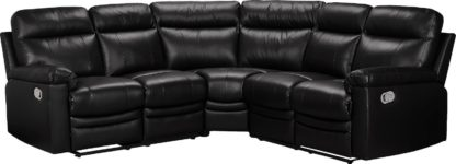 An Image of Argos Home Paolo Corner Manual Recliner Sofa - Brown