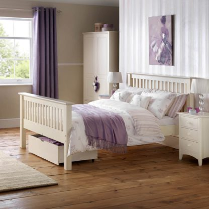 An Image of Barcelona High Foot End Bedstead White
