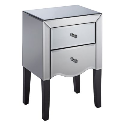 An Image of Palermo 2 Drawer Bedside Silver