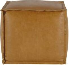 An Image of Kirby Industrial Pouffe, Taupe Suede