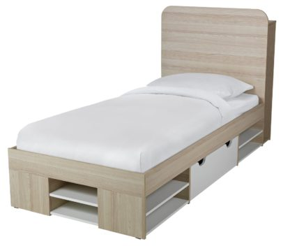 An Image of Habitat Pico Single Ultimate Storage Bed Frame - Two Tone