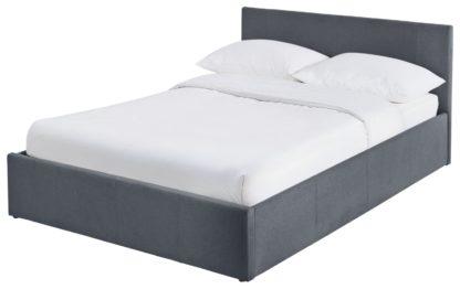 An Image of Habitat Heathdon Side Open Ottoman Small Double Bed -Grey