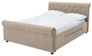 An Image of Argos Home Newbury Double 2 Drawer Bed Frame - Natural