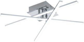 An Image of Eglo Lasana LED Ceiling Light - Chrome.