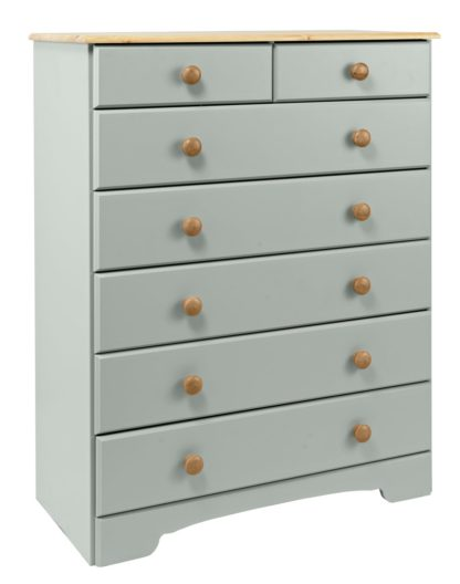 An Image of Argos Home Nordic 5+2 Drawer Chest - Soft White