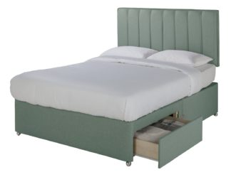 An Image of Sleepeezee Gel 1000 2 Drawer Double Divan Set