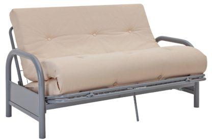 An Image of Argos Home Mexico 2 Seater Futon Sofa Bed - Natural