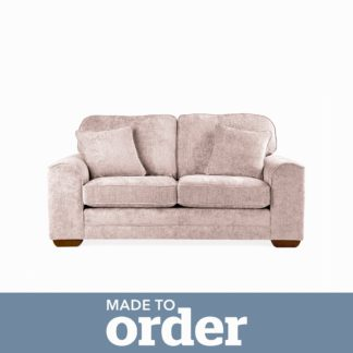 An Image of Morello 2 Seater Sofa Luxury Chenille Premium Chenille Rosewood