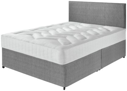 An Image of Argos Home Elmdon Double Deep Ortho Divan Bed - Grey