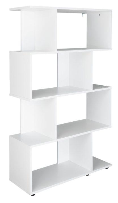 An Image of Habitat Hayward 5 Shelf Bookcase - Black Gloss