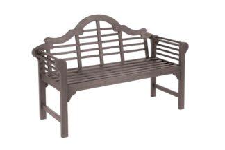 An Image of Greenhurst Lutyens Style 2 Seater Wood Garden Bench - Grey