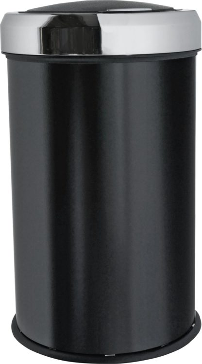 An Image of Argos Home 50 Litre Touch Top Kitchen Bin - Black